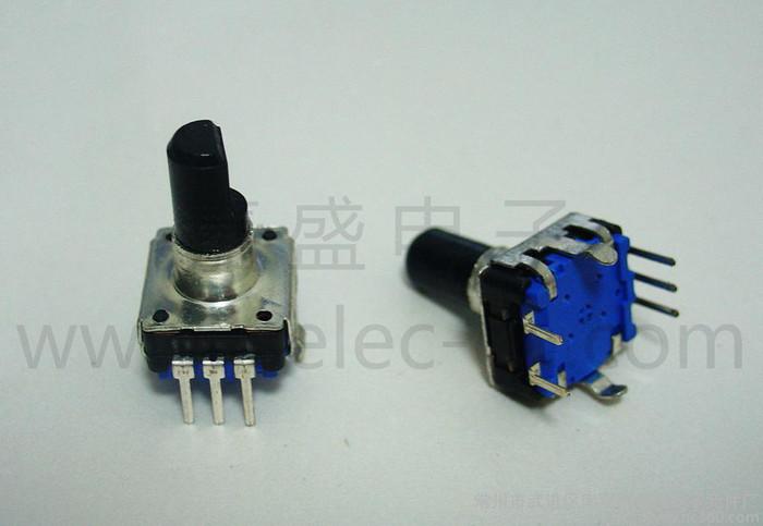 EC12音响和小家电类产品用24脉冲带开关卧式编码器编码开关