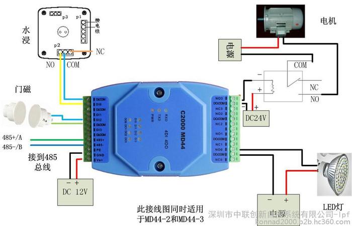 工作状态远程控制器 开关量输入输出转串口 康耐德C2000MD44