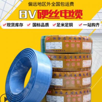 国标BV2.5 4 6平方铜塑线 家装工程用铜塑线 单芯国标电源线足米