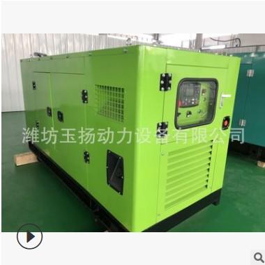 移动式静音30kw柴油发电机组 小型双缸水冷电启动30千瓦发电机组