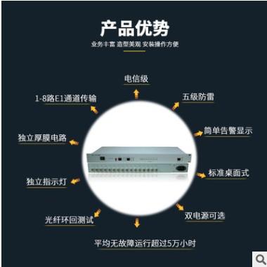 8E1网桥 协议转换器 E1转网络 2兆协转 RJ45转专线 网口转75欧姆