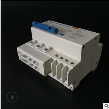 人民世纪 漏电开关3P 漏保断路器 透明 家用漏电保护器DZ47LE 3P