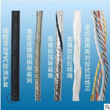 TRVVPS高柔性拖链电缆 耐折弯伺服电机编码线动力电缆四芯多平方