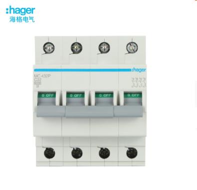 海格/HAGER微型断路器4P空气开关漏电保护家用总开关电闸32A-63A