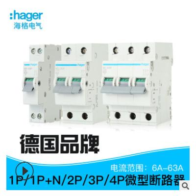 海格6kA微型断路器D曲线0.5A-63A 1P-4P MD100P