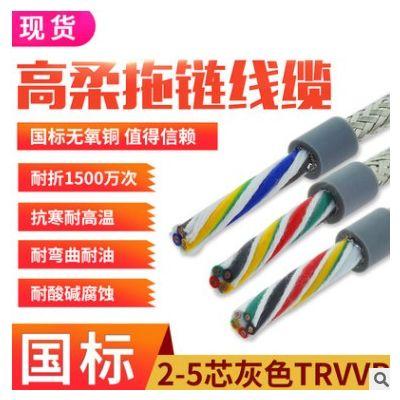 国标雕刻机拖链柔性带屏蔽多芯电缆12芯TRVVP耐油0.5平柔性运动线