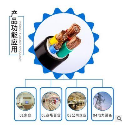 国标软芯电缆两芯三芯四芯三相户外10 16 25 35平方ZRRVV护套电线
