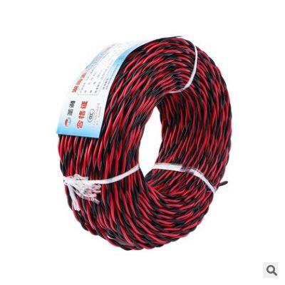 国标铜芯花线电线 消防线双绞线 25平行绝缘电线家用家装线缆批发