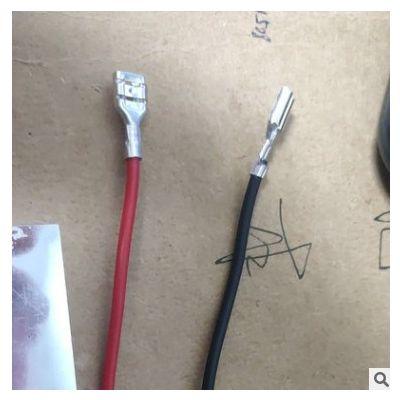 1.25端子线加工 电子线材公母对插线硅胶线 电池连接红黑线束定制