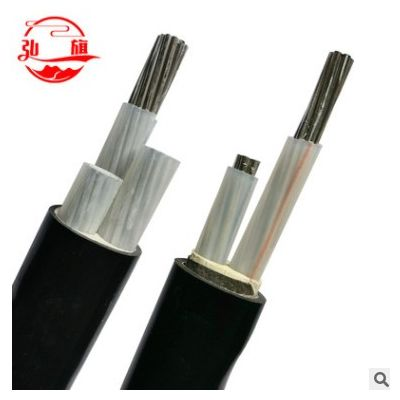 厂家供应4+1芯铝芯电缆线 YJLY/YJLV22型号户外架空阻燃铠装电缆